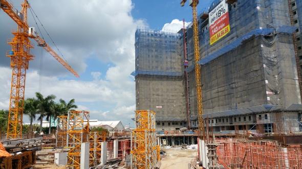 Hiện tại dự án đã cất nóc tòa nhà thứ nhất, tòa nhà thứ 2 đang hoàn thiện tầng đế tiện ích, dịch vụ