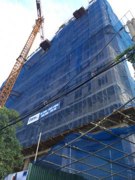 Dự án đang thi công tới mặt sàn tầng 16