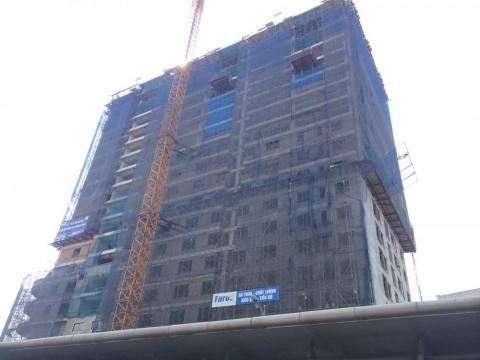 Dự án đang thi công tới mặt sàn tầng 19