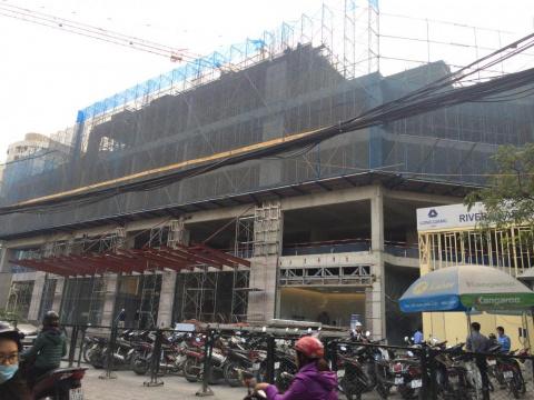 Dự án đang thi công tới mặt sàn tầng 6