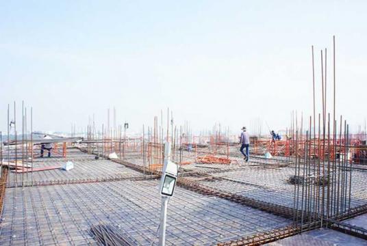Dự án chuẩn bị đổ bê tông sàn tầng 17