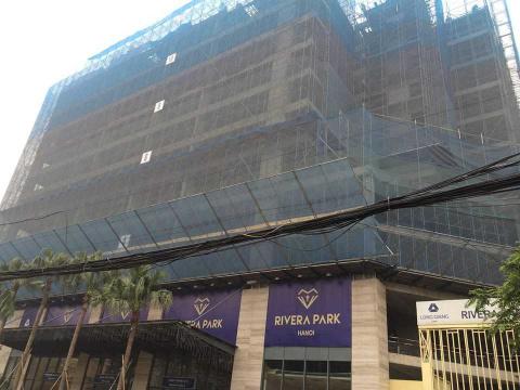 Dự án đang thi công tới mặt sàn tầng 12