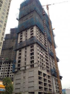 Ba tòa đều xây đến mặt sàn tầng 31