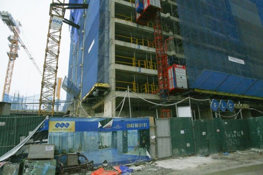 Dự án đang thi công tới mặt sàn tầng 13