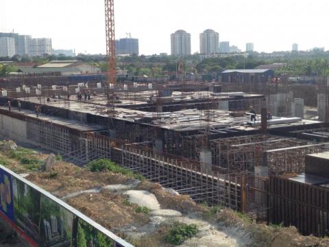 Dự án đang xây dựng đến mặt sàn tầng 1
