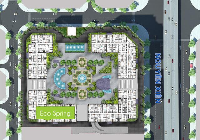 Mặt bằng tổng quan dự án chung cư Eco Spring
