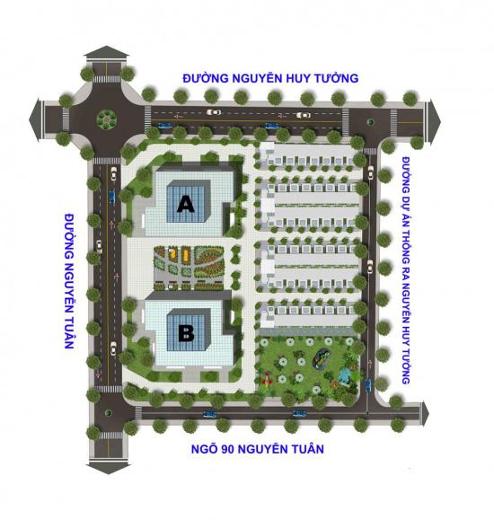 Mặt bằng dự án Thống Nhất Complex