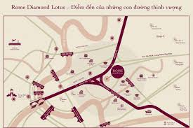 1BR 51M2, View CBD - Rome Diamond Lotus for sales at 6 billion VND