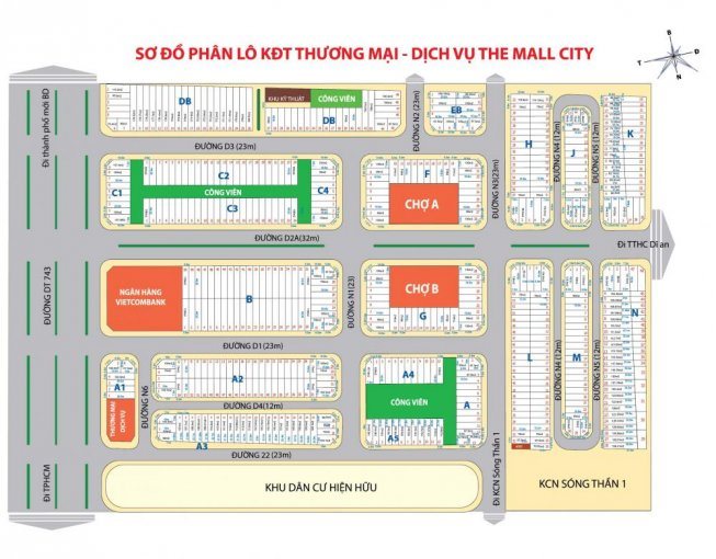 Bán đất nền ngã tư 550, gần chợ, trung tâm khu dân cư, tiện kinh doanh ảnh 0