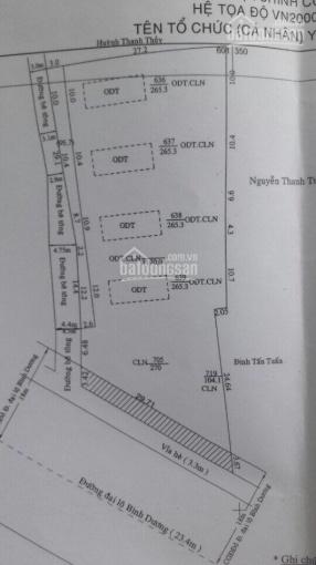 Đất mặt tiền Quốc lộ 13 gần vòng xoay Gò Đậu, Thủ Dầu Một, 30x50m, thổ cư 1060m2, giá 28 tr/m2