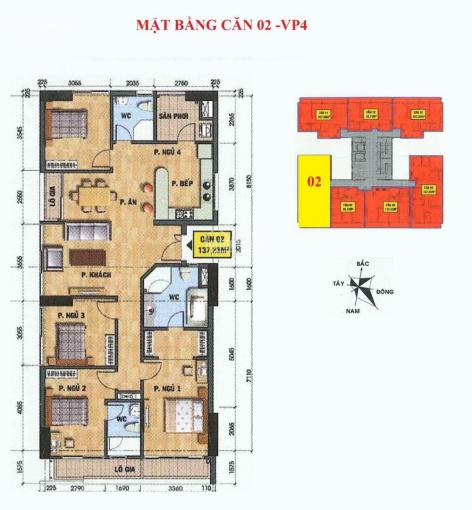 Tôi cần bán lại căn góc 4PN, số 08, ban công hướng Nam nhìn hồ - tòa VP2 - VP4 bán đảo Linh Đàm