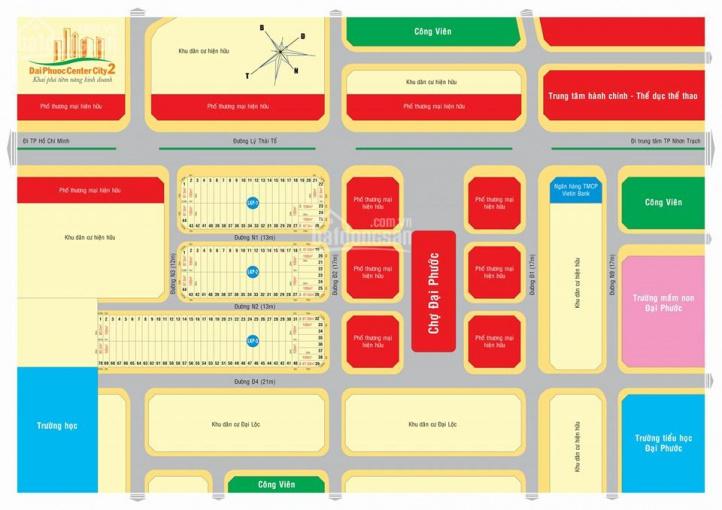 Bán đất chợ Đại Phước, MT Lý Thái Tổ LKP3 ô 45 đường D4 dự án Đại Phước 2 giá 1tỷ9, LH 0932 117 866 ảnh 0