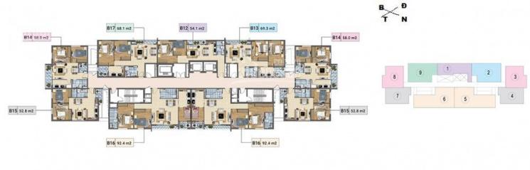 Chính chủ bán CC Xuân Phương Residence, căn 903, tòa D, DT 91m2, giá bán 18tr/m2. LH 0985284866