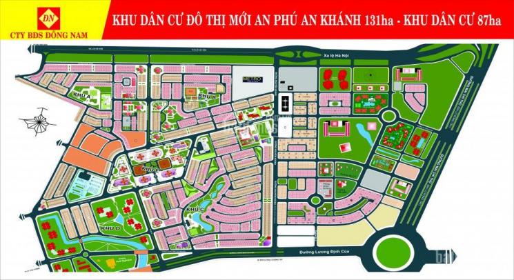 Bán đất An Phú An Khánh, Q2. Từ 105tr/m2 đến 260tr/m2, 4mx20m, 5mx20m, 8mx20m, 10mx20m, 0902759799
