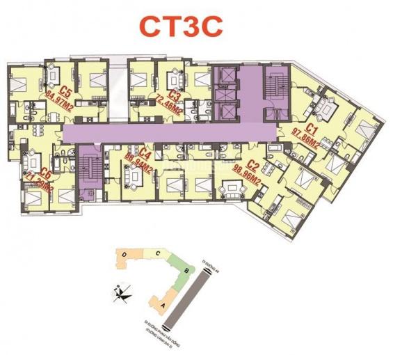 Bán căn hộ chung cư 71m2 CT3C khu đô thị mới Nam Cường giá rẻ nhất thị trường ảnh 0