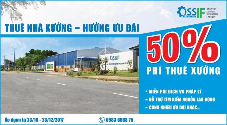 TẶNG NGAY 50% PHÍ THUÊ XƯỞNG TẠI KCN TÂN KIM, LONG AN - LH 0983 68 68 75