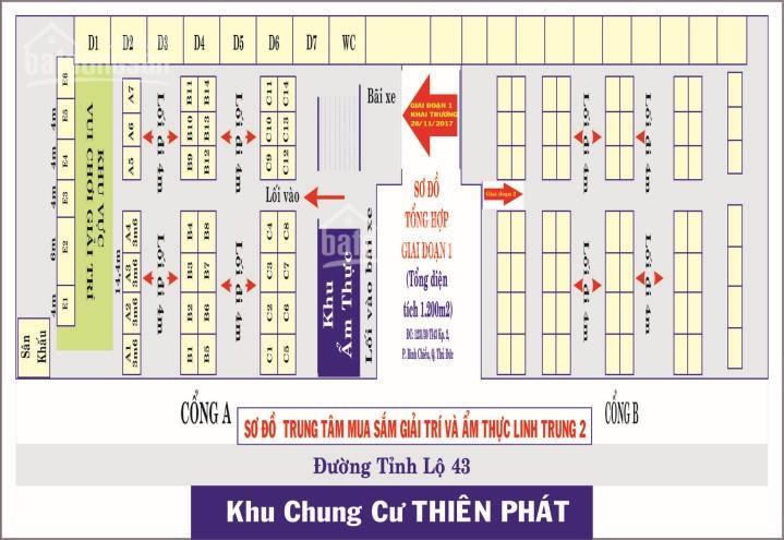 Cho thuê kiot hoặc hợp tác kinh doanh tại trung tâm mua sắm Linh Trung Plaza
