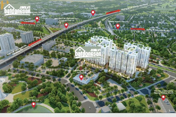 Bán kiot dự án Hà Nội Homeland, Long Biên HN, Dt từ 36m-50m, giá 30tr/m2