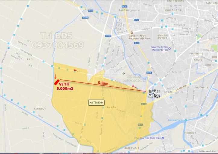 Trí BĐS, đất 5.600m2 (đã lên thổ cư 3.400m2) mặt tiền đường Nguyễn Đình Kiên gần Trần Đại Nghĩa