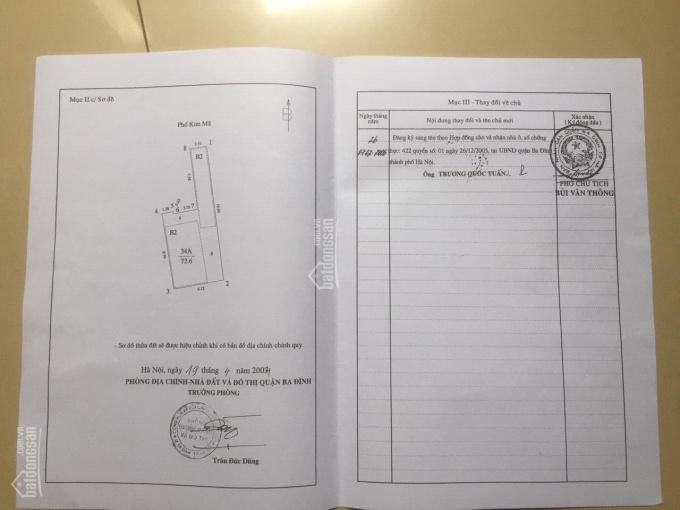Bán nhà chính chủ mặt phố Kim Mã, DT 140m2 (2 sổ) mặt tiền 4.22m, giá 400tr/1m2, LH 0982 917 880