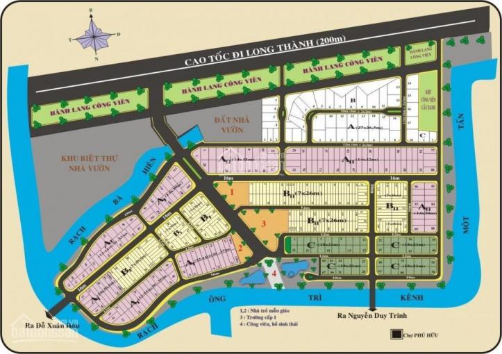 Bán lô biệt thự DA Bách Khoa Quận 9, trục chính lộ giới 16m, lô AII. DT 428m2, giá 27 tr/m2