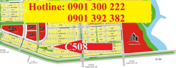 Cđt chính thức mở bán đất sổ đỏ khu c508, vị trí đẹp nhất khu dân cư kiến á.  lh: 0901 392 382