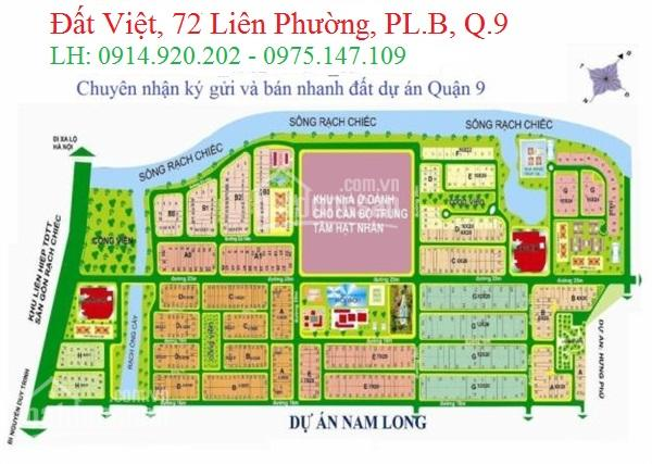 Cần bán lô đất thuộc dự án Nam Long, phường Phước Long B, Quận 9. Cần bán gấp 0914920202