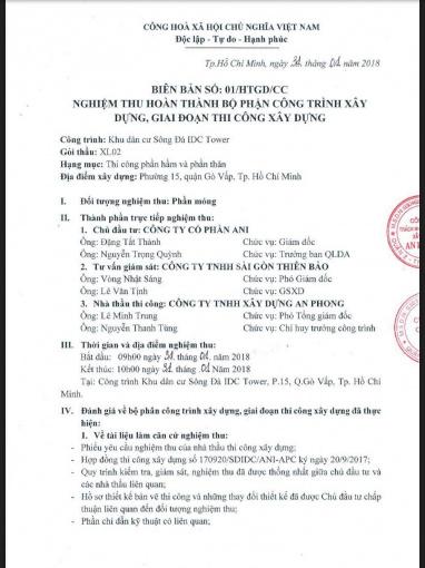 ĐẶC BIỆT SUẤT NỘI BỘ CHUNG CƯ OSIMI TOWER ĐƯỜNG LÊ ĐỨC THỌ, QUẬN GÒ VẤP 2PN 53M2