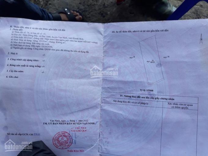 Hơn 13 hécta đất xã Đại Lãnh nằm ngay mặt biển khu kinh tế Bắc Vân Phong