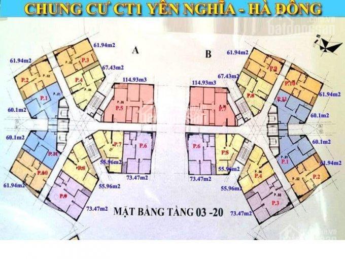 Bán căn hộ 73.47m2 chung cư CT1A Bộ Tư Lệnh Thủ Đô, gần bến xe Yên Nghĩa. LH: 0985080430
