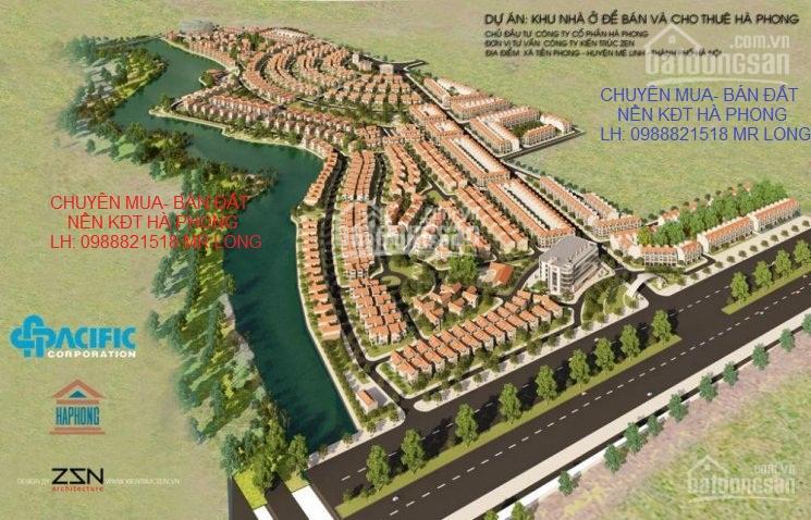 Chuyên mua bán đất liền kề biệt thự dự án Hà Phong, đất tự xây SĐCC