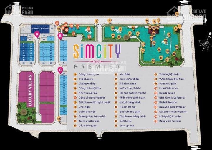 Bán biệt thự dãy C Sim City giá tốt nhất thị trường 2 mặt tiền 1 trệt, 4 lầu 101m2 LH: 0906.2341.69
