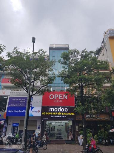 Cho thuê nhà mặt phố 113 Trung Hòa, 140m2x6 tầng, mặt tiền 6.2m (nhà sửa lại kính mới hoàn toàn)