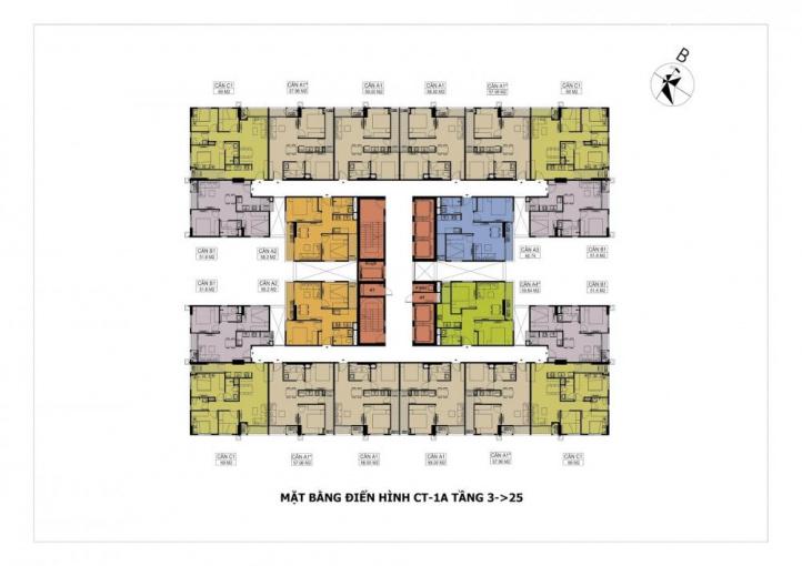 Cần bán gấp căn 3PN, 2WC dự án Hateco Apollo giá chỉ 1.5 tỷ, view hồ Điều Hoà, LH: 096.114.8581