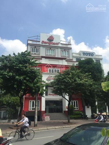 Cho thuê nhà mặt phố 8C Nguyễn Khánh Toàn, rộng, đẹp. 250m2x7,5T, mặt tiền 12m, thông sàn có hầm