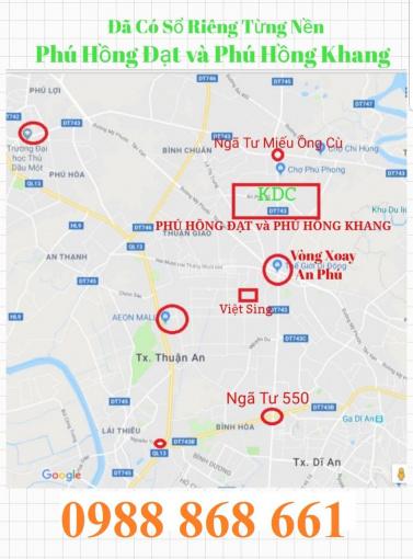 Bán đất Phú Hồng Thịnh 8, mua sang tên ngay Bình Chuẩn, Thuận An 0988868661