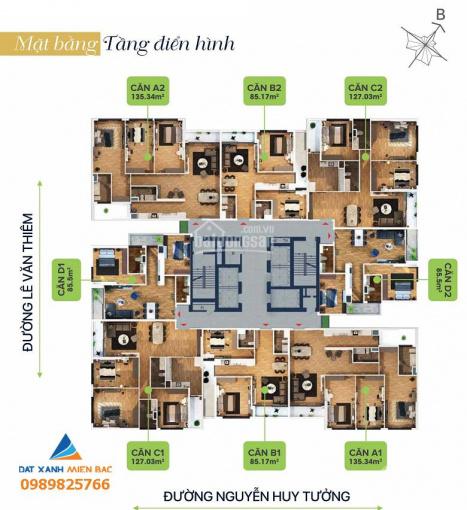 Căn hộ 3PN giá hấp dẫn nhất quận Thanh Xuân - Bohemia Residence