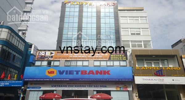 Văn phòng mới xây khu triển lãm Tân Bình đường Hoàng Văn Thụ cho thuê, tầng trệt là ngân hàng