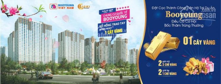 Cần tiền bán gấp căn góc 73.31m2 chung cư Booyoung Vina Mỗ Lao, full nội thất Hàn Quốc