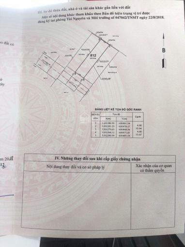 Bán đất sổ riêng (1 sẹc Tô Ngọc Vân) DT (4 x 19)m, SHR. Giá: 2,65 tỷ