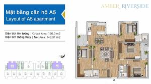 Bảng hàng chi tiết căn 4 phòng ngủ mới nhất các căn ngoại giao Amber Riverside, tặng ngay 100 triệu