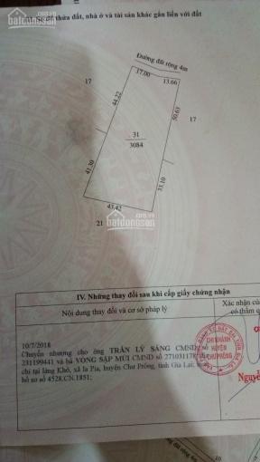 Gia đình tôi cần bán lô đất sau xã Ia Pia, DT 3084m2, sổ riêng, giá 250tr - LH 0938.018.295 Vân ảnh 0