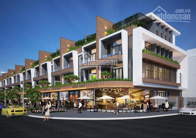 Bán nhà phố thương mại vừa ở vừa KD 1 trệt 3 lầu, 3 mặt tiền TP Bạc Liêu DT 323m2. LH 0902.897.966