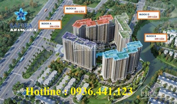 Safira Khang Điền mở bán Block đẹp nhất, TT 40% nhận nhà, 2% / tháng, CK ngay 5%, 0936441123