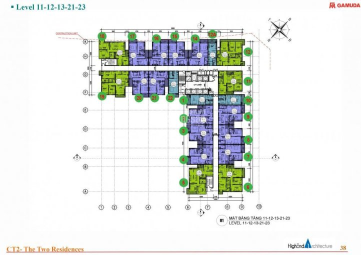 Gia đình mình cần bán căn hộ 3PN - 103m2, Gamuda City ảnh 0