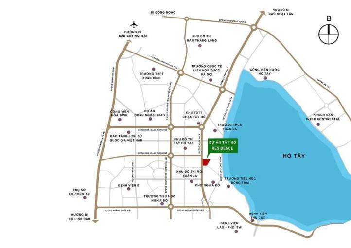 Tây Hồ Residence mặt đường Võ Chí Công, 2.4 tỷ/căn 2PN 76,6m2, 3.2 tỷ/căn 3PN 94.7m2. LH 0936312024