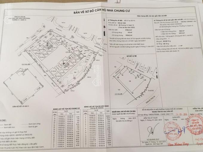Cần bán căn 2PN, Hà Đô Centrosa, view 3/2 lầu cao 01.1X. 03. LH 090.767.3055