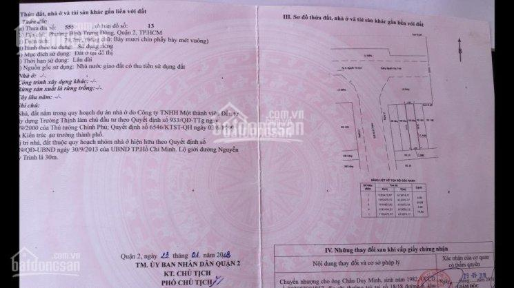 Mặt tiền Nguyễn Duy Trinh rộng 30m, Quận 2, vị trí kinh doanh 4x20m, sổ đỏ, giá 9.3 tỷ
