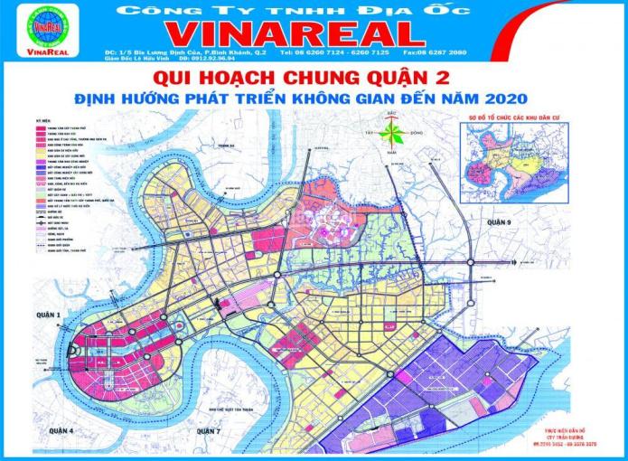 Bán đất thổ cư mặt tiền Lương Định Của, quận 2. Tiện xây cao ốc văn phòng