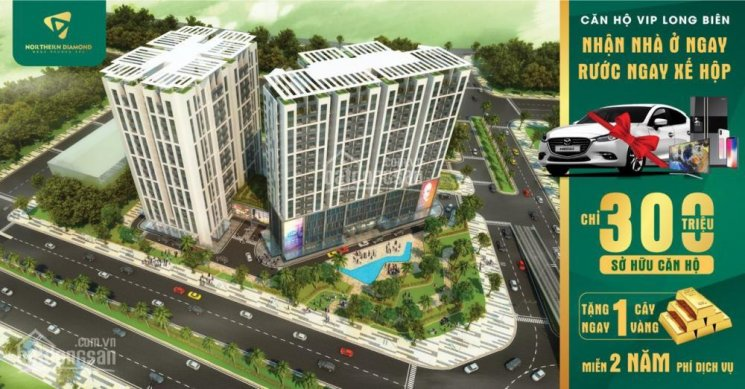Bán căn 3PN, Đông Nam Northern Diamond, nội thất cao cấp, CK 5% + 35tr vay LS0%, nhận nhà ở ngay